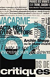 Vacarme, N° 62, Hiver 2012-20 :