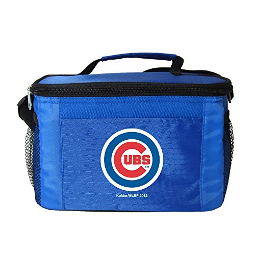 m Logo 6 Can Cooler Bag or Lunch Box - Blue (Mlb Soft Sided Lunch Box)