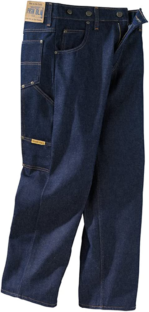 1950s Men's Pants, Trousers, Shorts | Rockabilly Jeans, Greaser Styles Prison Blues Mens Work Jeans (7 Pocket) Without Suspender Buttons $45.20 AT vintagedancer.com