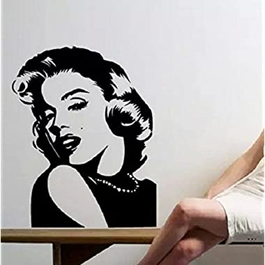 WELLENT®Sexy Godness Marilyn Monroe Art Removable Home Pub KTV Wall Decor Sticker (small)