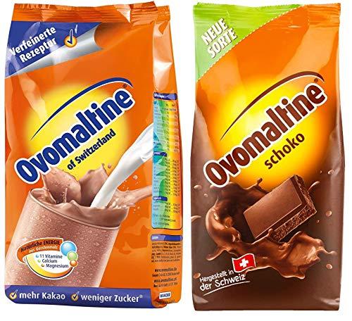 Proefpakket Ovomaltine poeder 2-pack, klassiek + chocolade, 1x500g+1x450g