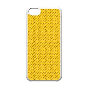 Okaycosama Funny IPhone 5C Cases Pattern Yellow Dots Hardshell for Girls, Protective Case for Iphone 5, {White}
