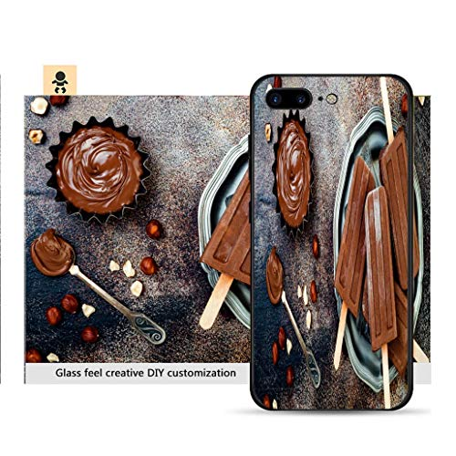 iPhone 7p / 8p Ultra-Thin Phone case Vegan Banana Chocolate Fudge Popsicles with Homemade Hazelnut Spread Creamy Dairy Free ice pops Resistance to Falling, Non-Slip, Soft, Convenient Protective case