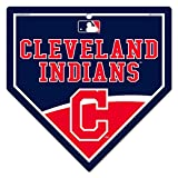 """WinCraft Cleveland Indians MLB 9.25"""" x 9.25"""" Home Plate Sign"""