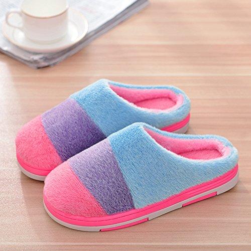 mhgao Otoño Invierno Lady Zapatillas de algodón zapatillas de casa 2