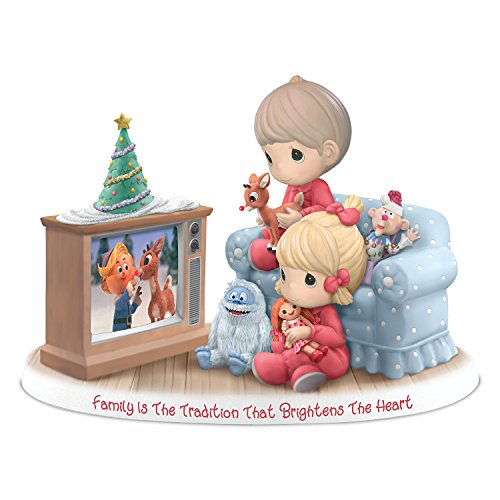 Hamilton Collection Precious Moments (Precious Moments Family Is The Tradition That Brightens The Heart Figurine With Rudolph by The Hamilton Collection)