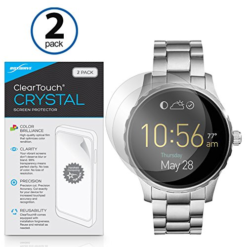 fossil-q-marshal-screen-protector-boxwave-cleartouch-crystal-2-pack-hd-film-skin-shields-from-scratc