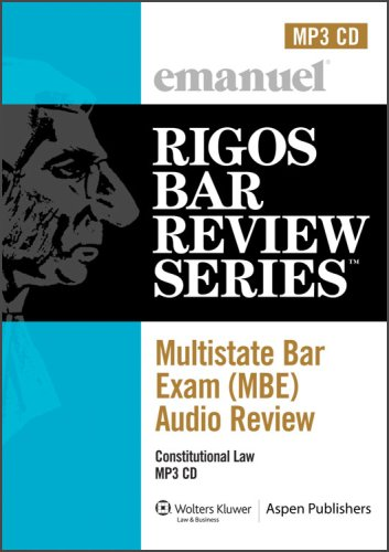 Multistate Bar Exam Audio Review: Constitutional Law (Rigos Bar Review) by Brand: Aspen Publishers, Inc.