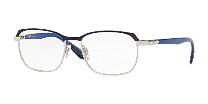 6c5b9c987a78f Amazon.com  Ray-Ban Unisex RX6420 Eyeglasses Silver Top Blue 54mm ...