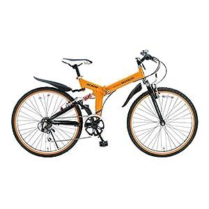 My Pallas(マイパラス) 折りたたみ自転車 ATB M-670-OR 26インチ 6段変速 Wサス オレンジ