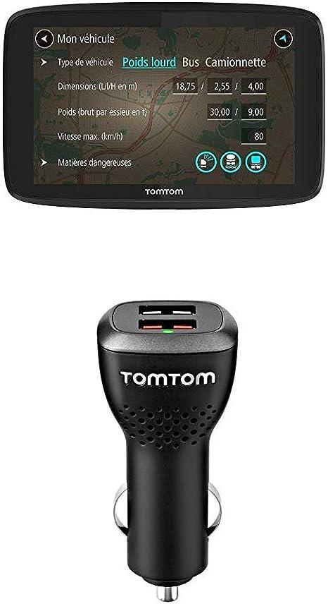 Tomtom Go Professional 520 Lkw Navigationsgerät Updates über Wi Fi 12 7 Cm 5 Zoll Smartphone Benachrichtigungen Duales Usb Auto Schnellladegerät Geeignet Für Alle Tomtom Navigationsgeräte Navigation
