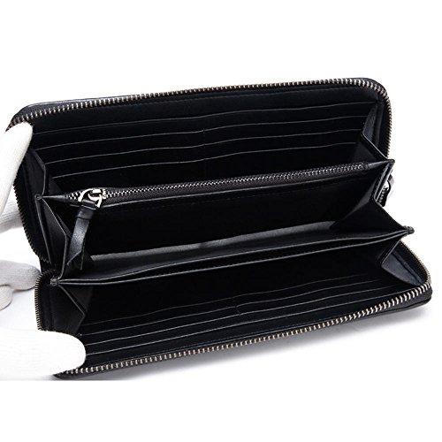 handbag clutch Black first layer DANJUE men's woven casual D1006 cowhide bag PF8qwqc7W