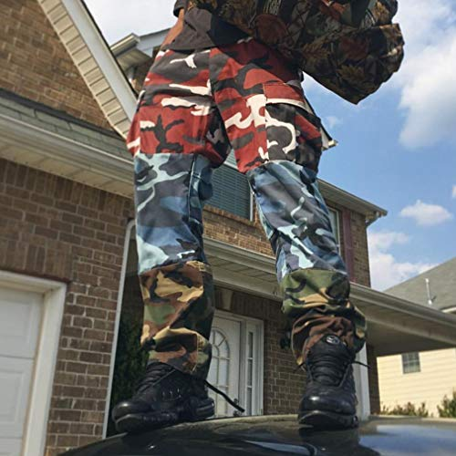 Casual Pant Camo Juleya Camouflage Femme Baggy Tactical Pants Streetwear Bleu Pocket Hop Vert Multi Cargo Homme Rouge Hip fgdqdw1