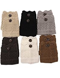 Womens Fashion Knited Short Boot Cuffs Lace Leg Warmers(Pack of 6)