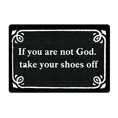 Ext Oil Stain (DKISEE Indoor Outdoor Entrance Rug Floor Mat If You Are Not God Doormat, 15.7