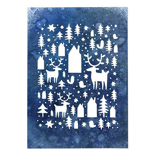 Sizzix 664199 Nordic Winter by Tim Holtz Dies, us:one Size, Multicolor