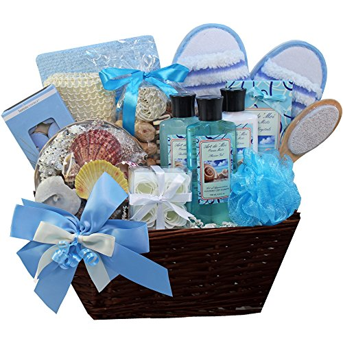 Seaside Getaway Spa Bath and Body Gift Basket Set (Ideas For A Spa Gift Basket)
