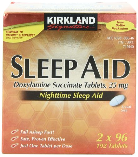 Kirkland Signature sommeil Tablet aide. 2x96