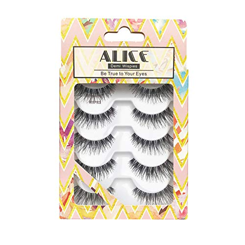 ALICE False Eyelashes Natural Lashes Demi Wispies 5 ()
