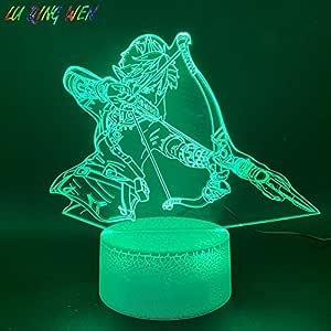 Zhuhuimin Juego de lámpara de luz Nocturna led 3D Zelda ...