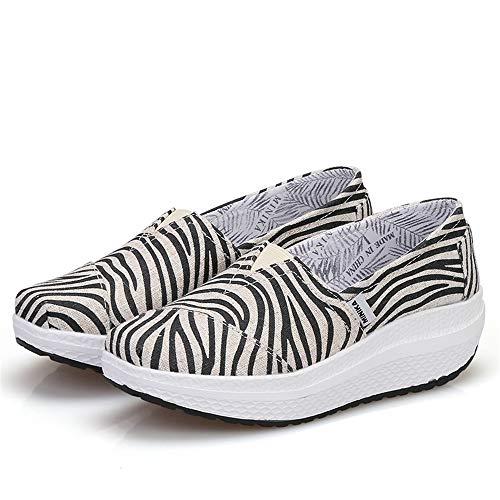Nero tela scarpe viaggio di Pendenza con Dimensione da da suola 2 Scarpe FangYOU1314 Nero pigri 3 EU PU Colore 36 viaggio scarpe fnxZAww8W