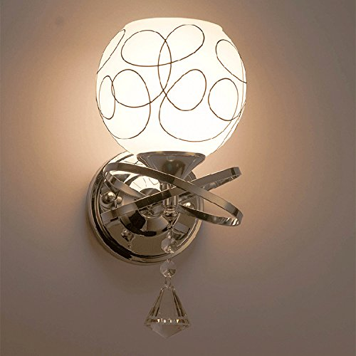 Andre Home Glaseinzelkopf Doppelwandlampe Schlafzimmer Lampe Hotelzimmer Nachttischlampe Gang Wandleuchte (Größe   A)