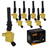 Pack of 8 High Performance Yellow Ignition Coil for Ford Lincoln Mercury 4.6L 5.4L V8 DG508 C1454 C1417 FD503