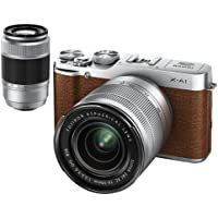 FUJIFILM-less digital camera mirror single-lens X-A1 double zoom lens kit Brown F X-A1BW / 1650 / 50230KIT [International Version, No Warranty]