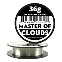 100 ft - 36 Gauge Kanthal A1 Resistance Wire AWG 100' Lengths by Master Of Clouds