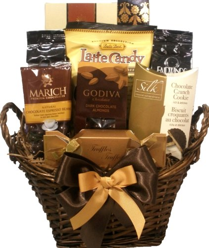 Delight Expressions® Coffee and Chocolate Lovers Gourmet Food Gift Basket - A Holiday Gift Basket Idea!