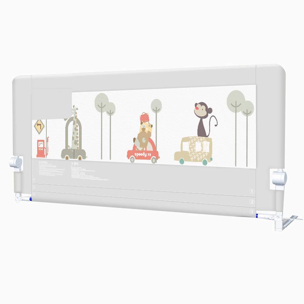 ベッドレール 折り畳み式幼児ベッドレール、子供用漫画調節可能なポータブルベッドガードレール収納袋付き外部安全ロック (サイズ さいず : 1.8m) 1.8m  B07L4NNMS4