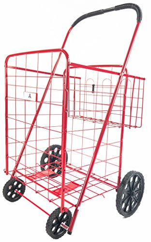 ATH Large Deluxe Rolling Utility / Shopping Cart with Bas...