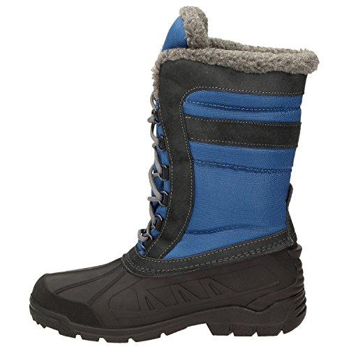 Snow BOWS Wasserabweisend Warm Blau Gefüttert Schuhe Winterstiefel Stiefel Schnee Winterboots Susi Wasserdicht Damen pXgArqTUX