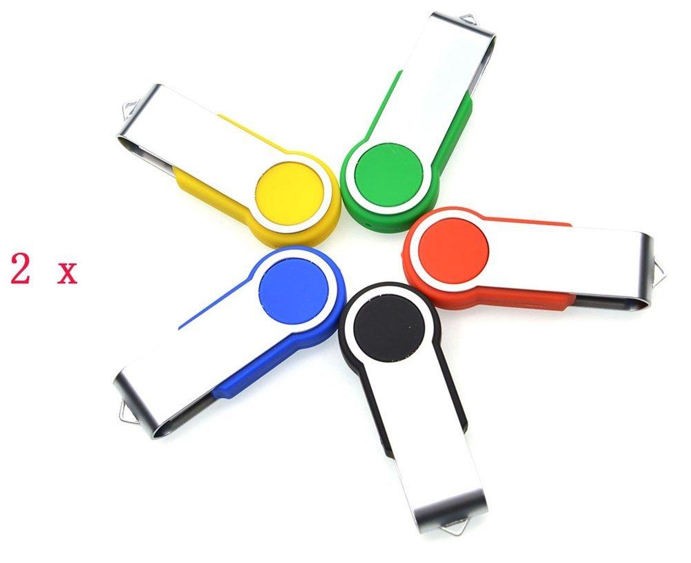 FEBNISCTE 10pcs Swivel 16GB Bulk Pack USB3.0 Flash Thumb Stick Drive