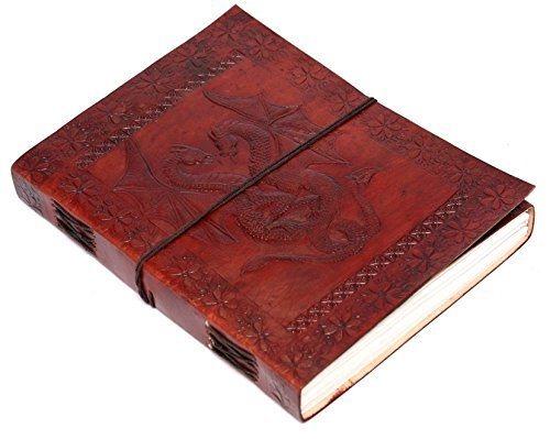 Zap Impex Handmade Double Dragon Leather Journal Diary Blank Diary /Journal/ Notebook Size- (7- 5 Inch) Wrap Tie Closer
