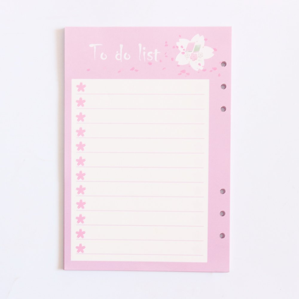 Domikee Cute 6 Holes refilling Inner Paper core for Spiral Binder Planner notebooks:List,Weekly Monthly Planner,line,Grid A5 baomh company