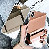 Honsir Compatible iPhone 7 Plus/iPhone 8 Plus Mirror Case for Women Girls Make up, Glitter Ultra-Thin Mirror TPU Back Protect Cover for iPhone7 Plus/iPhone8 Plus Case