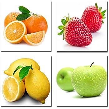 12 x 12 12 x 12 CH-WG121241 Cortesi Home Fruit Splash I Tempered Glass Wall Art