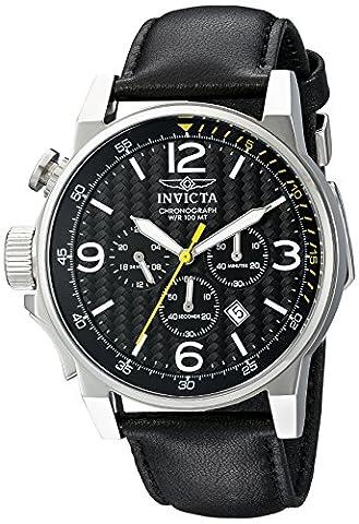 Invicta Men's 20129SYB I-Force Analog Display Quartz Black Watch (Invicta Watch Black Leather)
