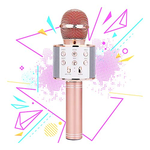 Karaoke Microphone for Girl, Toy Gift for 8-12 Year Old Girls Singing Microphone for Kids Boys Music Toy for 5-11 Year Old Kids Girl Party Gift Age 4-12 Girl Rose Gold Mic by Moff (Image #7)