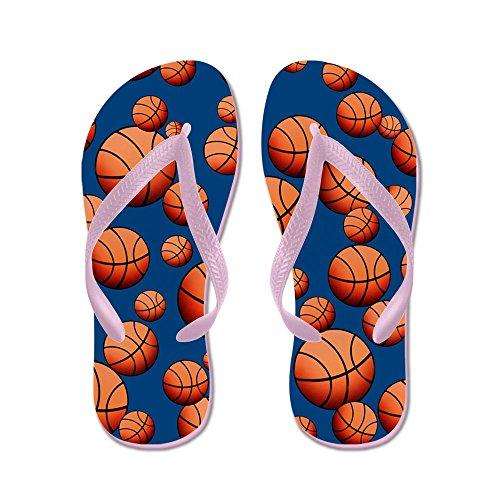 Cafepress Basketball - Chanclas, Sandalias Thong Divertidas, Sandalias De Playa Rosa