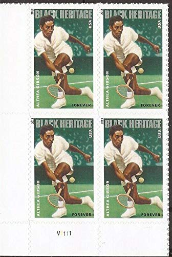 Althea Gibson Black Heritage Series Block of Four Forever Postage Stamps Scott ()