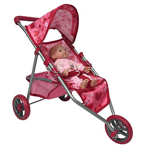 The New York Doll Collection Dolls Jogging Stroller - Pink H