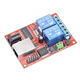 Wangdd22 Electronic kit Circuit Board LAN Ethernet 2-way Relay Board Delay Switch TCP/UDP Controller Module WEB Server, Android APP