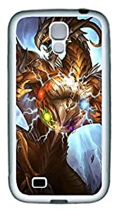 Brian114 Samsung Galaxy S4 Case, S4 Case - Slim Ultra Fit Soft Rubber Case for Samsung Galaxy S4 I9500 Artifact Dragon Popular Design White Back Cover for Samsung Galaxy S4 I9500
