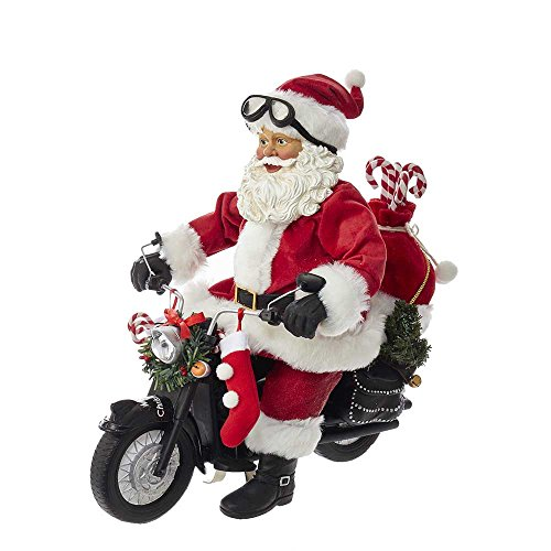Kurt Adler 10-Inch Fabriché Santa on Motorcycle