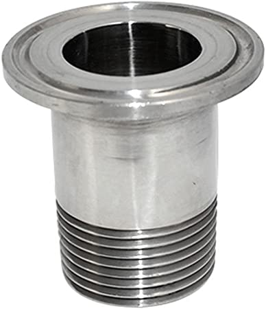 """1/"""" DN25 Sanitary Male Threaded Ferrule Pipe Fitting Tri Clamp Type SS316 New"""