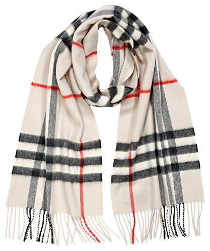 Burberry Women's Heritage Giant Check Scarf Stone