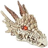 reptile tank accessories - Penn Plax RR1206 Dragon Skull Gazer Ornament
