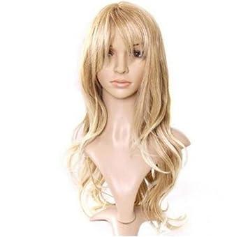 Pelucas calientes europeas y americanas, las niñas crecen pelo rizado, pelo largo dorado claro: Amazon.es: Deportes y aire libre